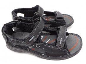 Pánské kožené sandály Hujo EFS6 černé
