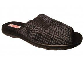 Pánské domácí pantofle Rogallo 20347 černé
