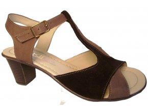 Dámské letní boty na podpatku Kira 644 hnědé