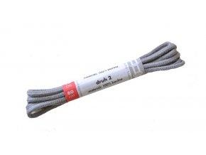 Kulaté bavlněné tkaničky do bot 2 šedá