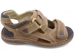 Pánské kožené sandály Madler 207 hnědé