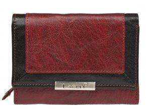 Dámská kožená peněženka Lagen 1496/1213 červeno-černá