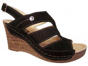 Dámské letní boty na klínku KTR K52 černé