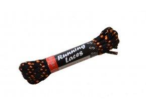 Běžecké tkaničky Running Laces černo-oranžová
