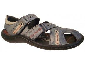 Pánské kožené sandály Hilby Krisbut 1112 modré