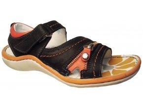 Dámské kožené sandály Hilby 2118 černé
