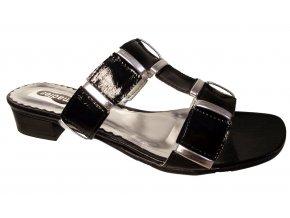 Dámská letní pantofle na podpatku Madler černé