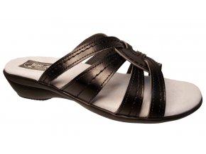 Dámské pantofle na klínku Redno 096 033 černé