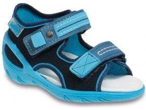 Dětské textilní sandálky Befado 065X095 modré