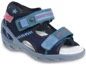 Dětské textilní sandálky Befado 065P098 modré