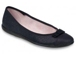 Dámské textilní baleríny Befado 309Q018 černé