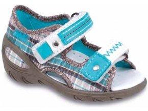 Dětské textilní sandálky Befado 065P070 béžové