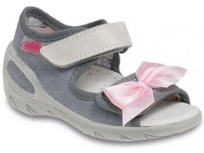 Dětské textilní sandálky Befado 433P001 šedé
