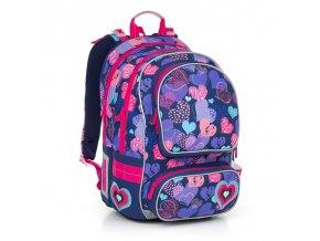 Školní batoh Topgal CHI 804 srdíčka