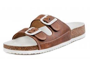 Dětské zdravotní pantofle Barea 006053 hnědé