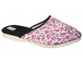 Dámské domácí pantofle Bokap 006 bílá