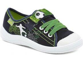 Dětské textilní tenisky Befado 251x064 zelené