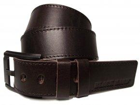 Pánský hnědý kožený pásek Black Hand 120