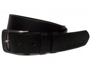 Dámský černý kožený pásek Black Hand 119
