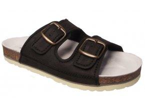 Dámské zdravotní pantofle Natural 40282 černé