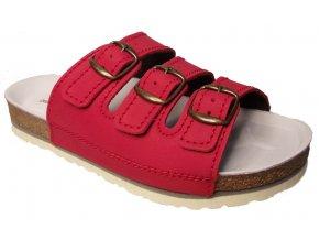 Dámské zdravotní pantofle Natural 41282 červené