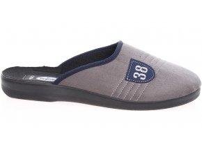 Pánské domácí pantofle Rogallo 4100 šedé