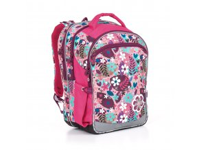 Školní batoh Topgal CHI 845 lístečky a srdíčka