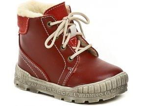 Dětské zimní kotníkové boty Pegres 1700 červená