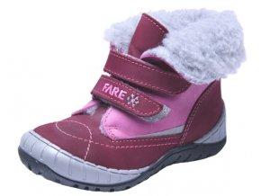 Dětské zimní kotníkové boty Fare 849154 fialové