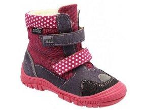 Dětské zimní kotníkové boty KTR 315/1/N fialové