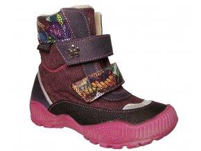 Dětské zimní kotníkové boty KTR 316/1/N fialové