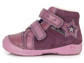 Dětské zimní kotníkové boty D.D.step 038 fialové