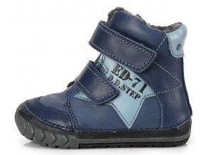 Dětské zimní kotníkové boty D.D.step 029 modré