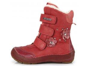 Dětské zimní kotníkové boty D.D.step 023 červené