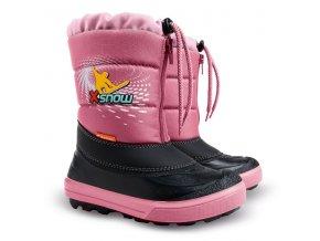 Dětské zimní sněhule Demar Kenny růžové