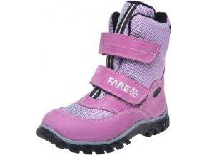 Dětské zimní kotníkové boty Fare 848153 růžové