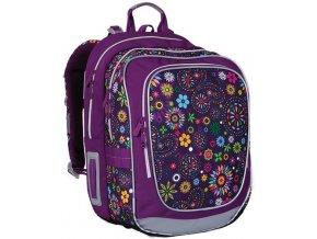Školní batoh Topgal CHI 738 s kytičkami