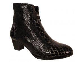 Dámské zimní boty na podpatku Barton 15216 černá
