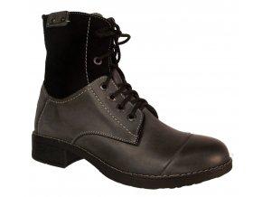 Dámská zimní kotníková obuv Madler 709 šedá