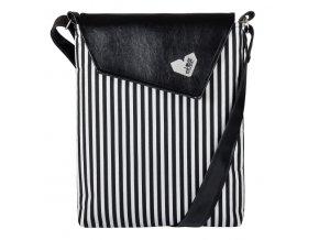 Černobílá proužkovaná kabelka Lovemusic