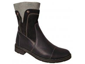 Dámská zimní kožená obuv Kira 480 modrá