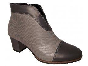 Dámské zimní boty na podpatku Barton 15916 šedá