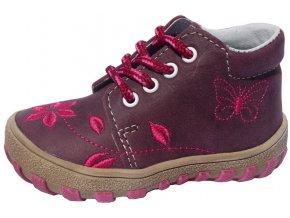 Dětské celoroční boty Jonap 022/M kytka fialová