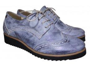 Dámské kožené polobotky Hujo KZ  3060 modré