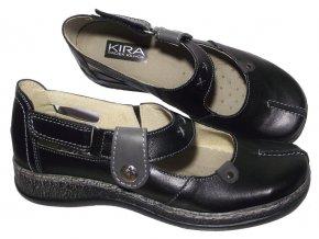 Dámské kožené mokasíny Kira 589 černé