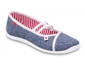 Dámské textilní baleríny Befado 345Q159 modrá
