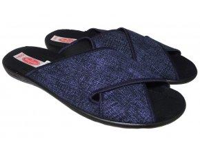 Pánské domácí pantofle Rogallo 21764 modré