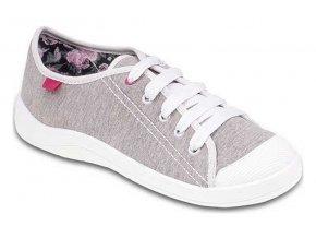 Dívčí textilní tenisky Befado Tim 244Q017 šedá