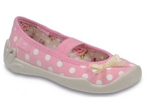 Dívčí textilní bačkůrky Befado 193Y040 růžová
