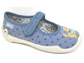 Dětské textilní bačkůrky Befado 114x175 modrá